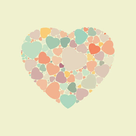 Abstract vintage heart background. EPS8 Vector