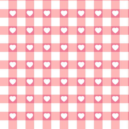 Swatch ready seamless Hearts  Vector