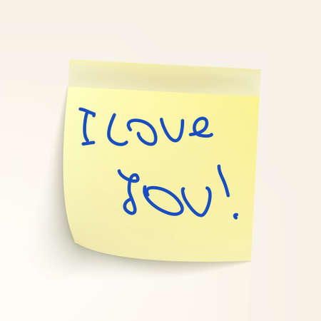 Sticky-note: I Love You!   Vector