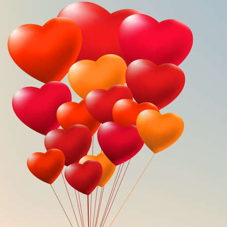 copula: Copula of red gel balloons. EPS 8 Illustration