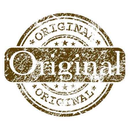 Office rubber stamp - Original. EPS 8 Stock Vector - 8714910