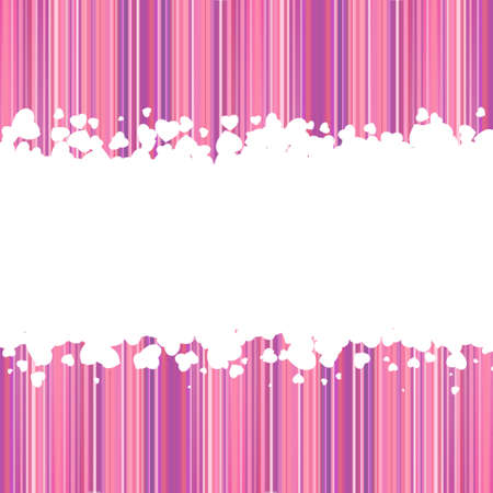 sehnsucht: Love vector background made from white hearts (valentines day card). EPS 8 vector file included