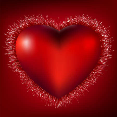3D Heart Burst Background.   Stock Vector - 8828193