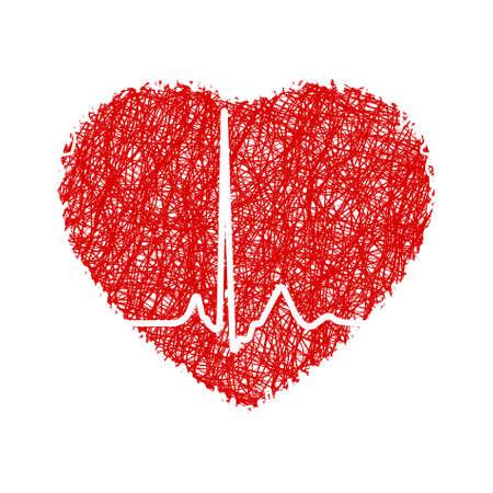 paramedics: Heart with cardiogram.