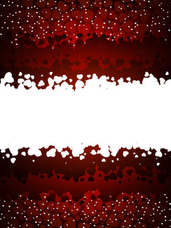 Red Valentines day background with hearts. EPS 8 vector file included Vector