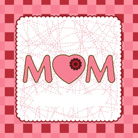 Mother's Day card template. EPS 8 vector file included Stock Vector - 8917737