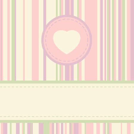 label frame: Vintage valentine card template. EPS 8 vector file included