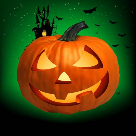 Happy Halloween Pumpkin, Jack O Lantern.  Vector