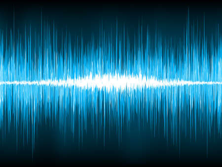 Sound waves oscillating on black background. EPS 8 vector file included Vector