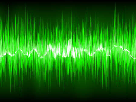 vibrations: Abstract Green waveform. EPS 8 vector file included