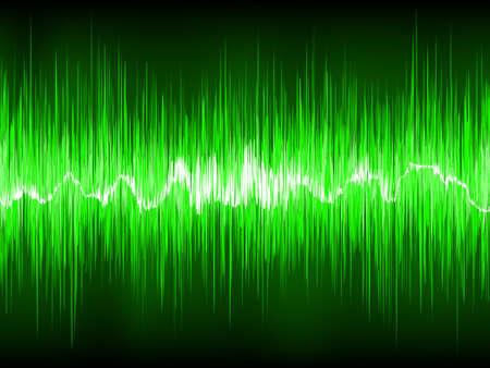 wavelength: Forma de onda verde abstracta. Archivo de 8 EPS vectoriales incluido Vectores