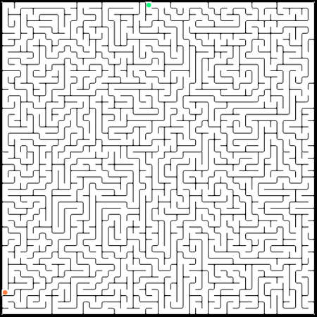 Vector illustration of perfect maze. EPS 8 vector file included Vector