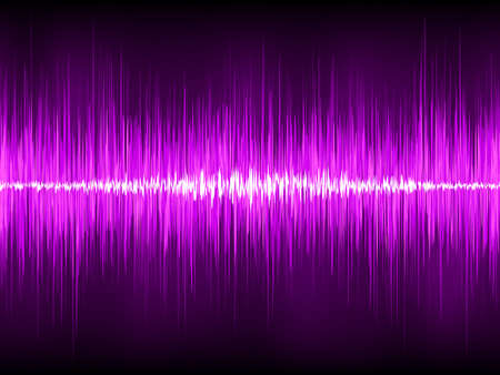 audio wave: Abstract Green violet.  Illustration