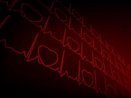 cardioid: Cardiogram EKG Vectores