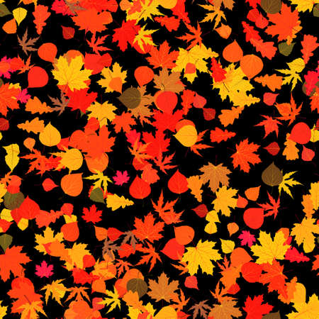 Autumn red bright leaves.   Vector