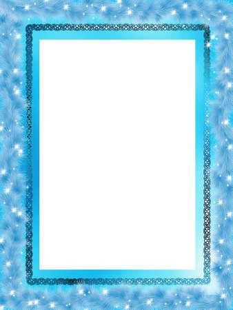 Template frame design for Christmas card.   Vector