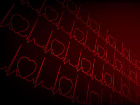 cardioid: Cardiogram EKG.   Vectores