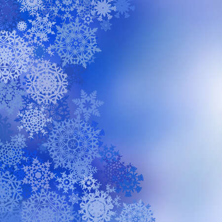 Blue christmas background with snowflakes and  copy space. EPS 8 vector file included Stock Vector - 9191946