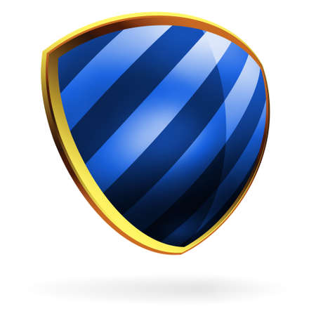 Vector blue shield template item. EPS 8 vector file included Vector