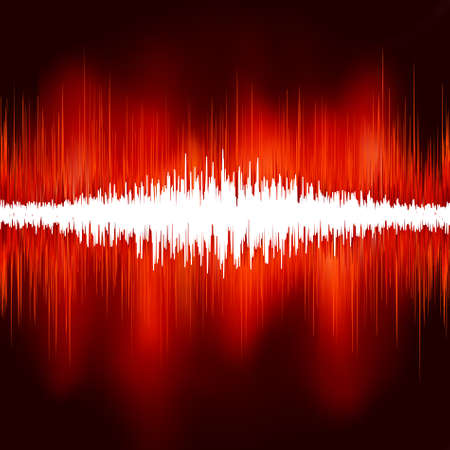 Sound waves on black background. EPS 8 vector file included Stock Vector - 9191951