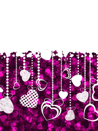 A lot of hearts valentine card. EPS 8 vector file included Stock Vector - 9219954