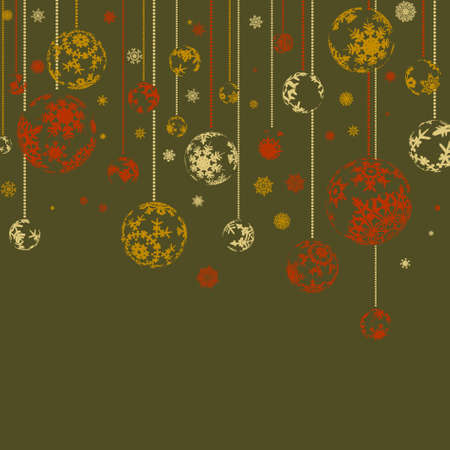 Vintage merry christmas and happy new year. EPS 8 vector file included Vector