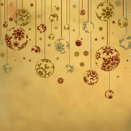 Vintage card with Christmas balls. EPS 8 vector file included Vector