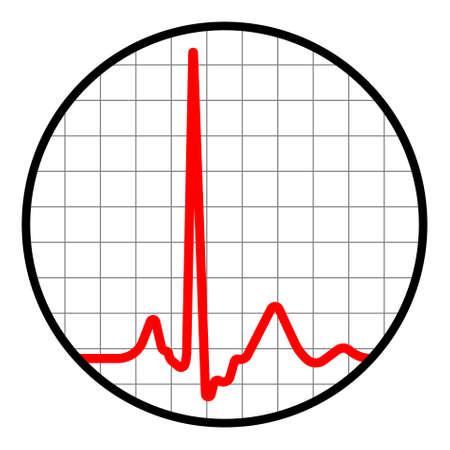 ico: cardiogram ico Illustration