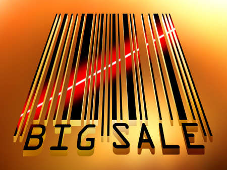 Big Sale bar code concept with laser light. EPS 8 vector file included Stock Vector - 9219995