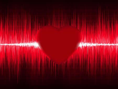 ECG Electrocardiogram with heart beat.  Vector
