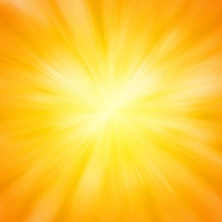 rayos de sol: Luz de sol caliente.
