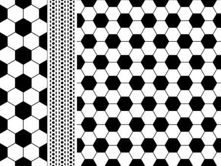 patchwork: Seamless football (Soccer) pattern Illustration
