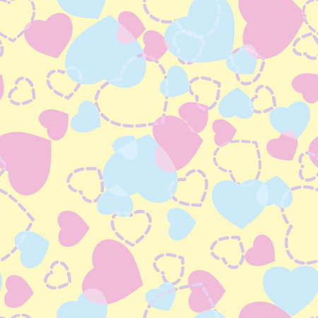 Valentines Day. Seamless pattern with hearts. EPS 8 vector file included Vector