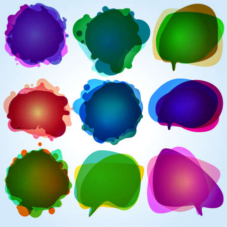 Color speech bubbles collection. Vector