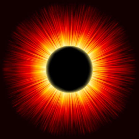 astral: Solar eclipse shine light.