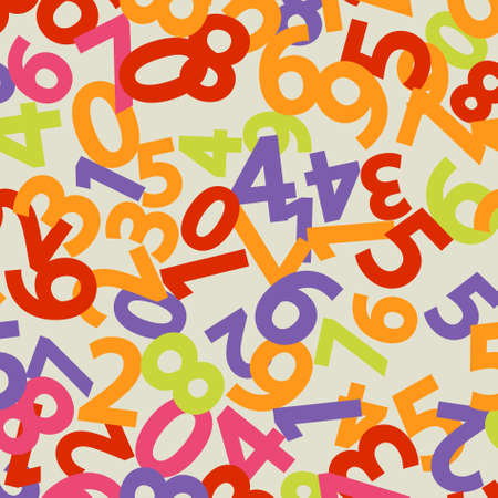 Abstract Colorful Background with numbers. Vector