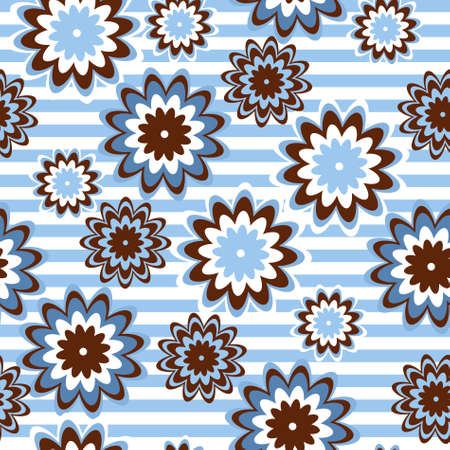 Floral seamless pattern in retro vintage style. Vector