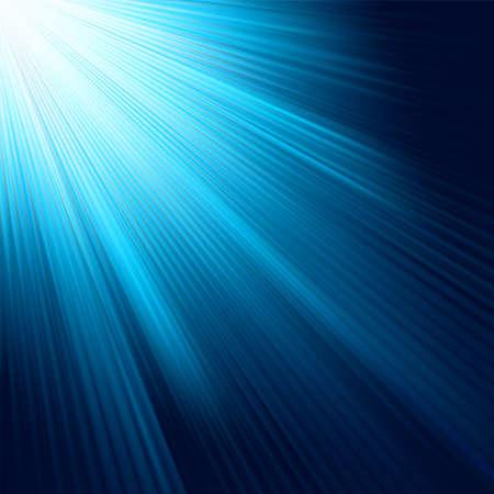 Blauwe lichte uitbarsting. EPS-8 vector bestand opgenomen