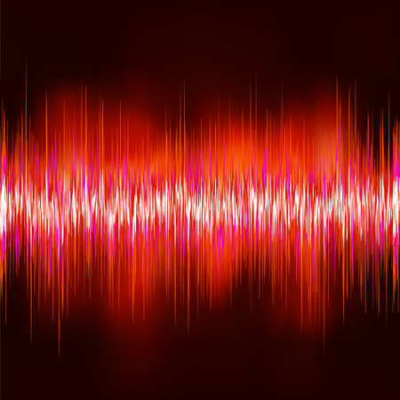 Wave sound background. EPS 8 vector file included Stock Illustratie