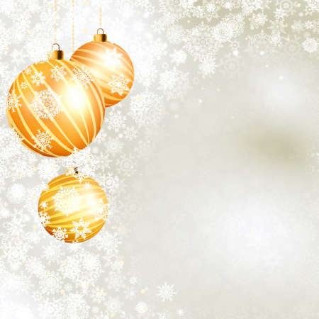 Elegant gold christmas ball on silver background. EPS 8 vector file included Vector
