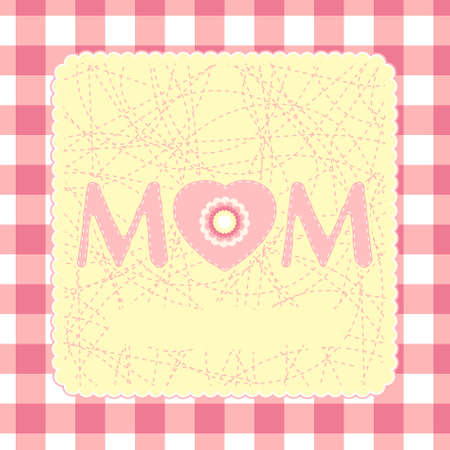 Happy Mothers Day card template. EPS 8 vector file included Vector