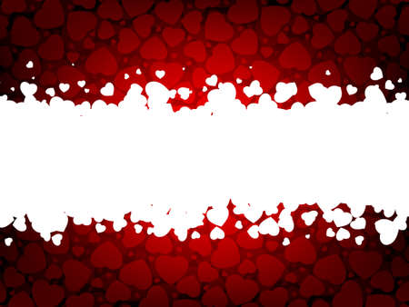 pretty s shiny: Valentines day background with copy space. EPS 8 vector file included Illustration