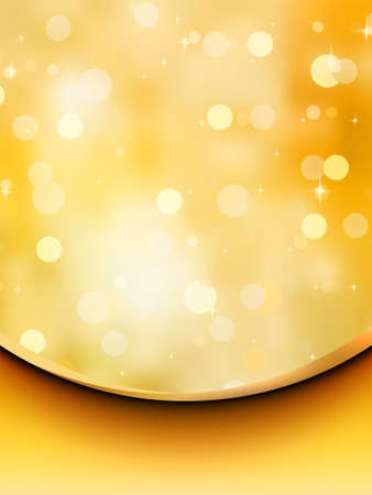 festiveness: Gold glitter on a light orange background. EPS 8 vector file included Illustration