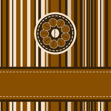 Menu with coffee beans and stripes with copy space. EPS 8 vector file included Vector