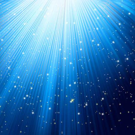 Vakantie stijgen sjabloon met stralende sterren. EPS 8 vector bestand opgenomen