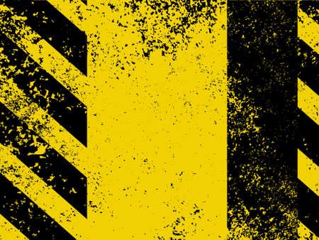 hazard stripes: Diagonal hazard stripes texture. These are weathered, worn and grunge-looking. Illustration