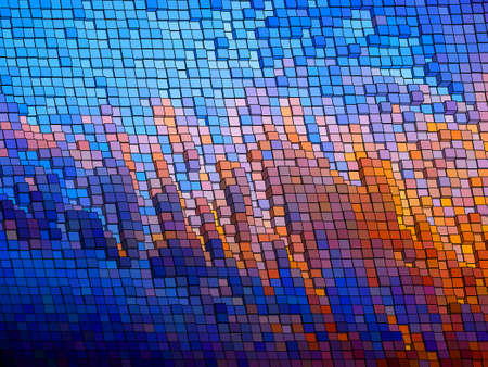 Mosaic vector background. Vector