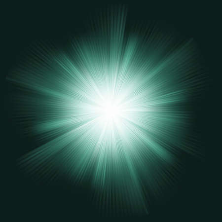 Lens flare burst background. Vector