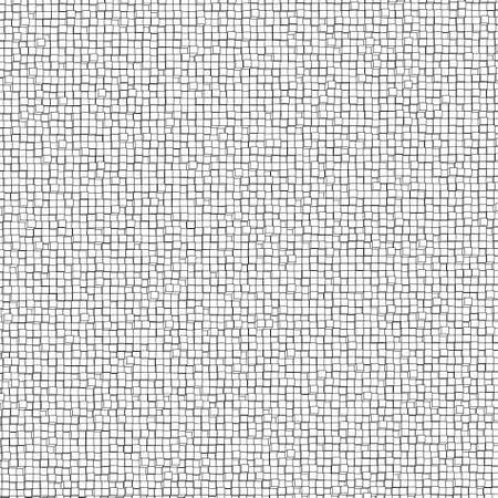 Three-dimensional design from white blocks. Vector