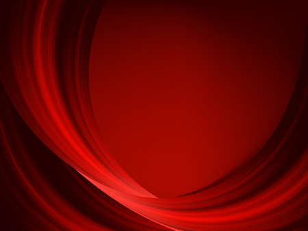 Abstract thin red lines on a dark background. Vector